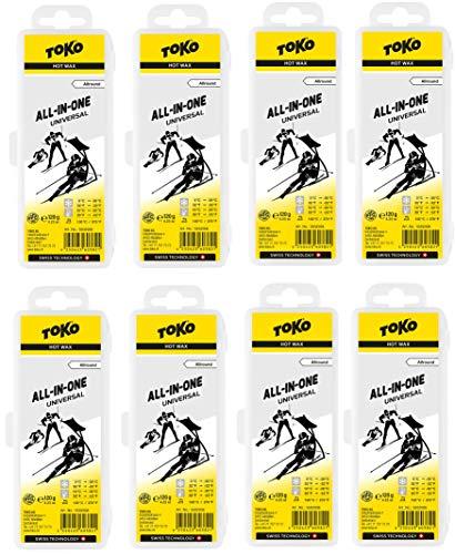 Toko _ Skiwachs Set 8 x All In One Wax - für Alpinski + Langlaufski + Board