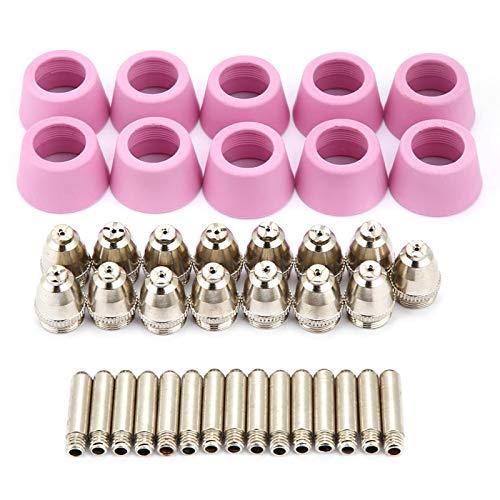 Boquillas de corte por plasma, 40 piezas/juego, rendimiento excepcional, AG60, tapas de corte por plasma, puntas de plasma, corte por plasma, para trabajo con plasma