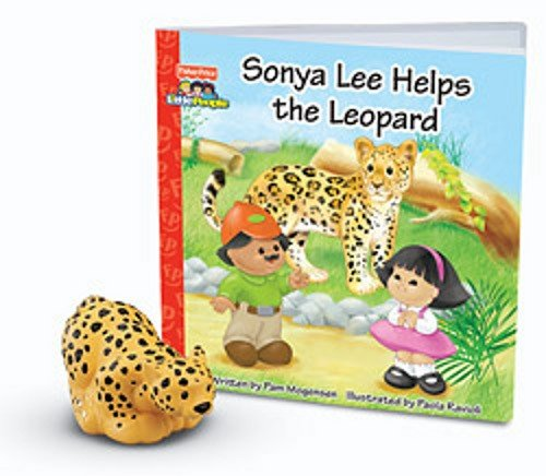 Fisher-Price Little People Zoo Talkers Book with Figure - Leopard