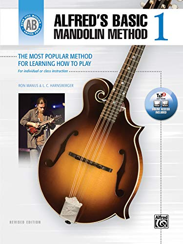 Alfred's Basic Mandolin Method 1: The Most Popular Method for Learning How to Play, Book & Online Video/Audio/Software (Alfred's Basic Mandolin Library)