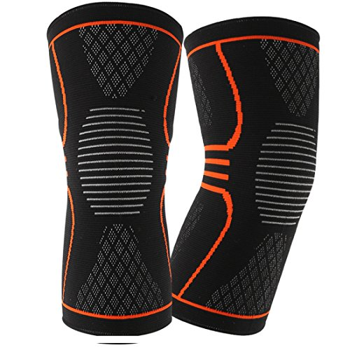 Knee Brace Knee Support, Compression Knee Sleeve (Pair) for Meniscus Tear, ACL, MCL Running & Arthritis, Best Neoprene Stabilizer Wrap for Crossfit, Squats & Workouts