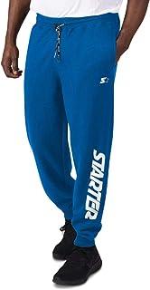 Starter Mens Pants Blue Black US Size Small S Jogger Knit Fleece Stretch