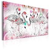 murando Cuadro en Lienzo Flamencos 120x80 cm 1 Parte Impresión en Material Tejido no Tejido Impresión Artística Imagen Gráfica Decoracion de Pared Flamenco g-C-0048-b-c