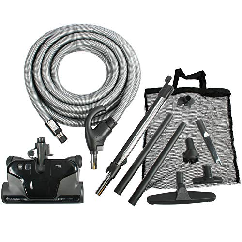 Cen-Tec Systems 94071 Premium Total Control Central Vacuum Electric Powerhead Package with 30 Foot Hose, Direct Connect, Black