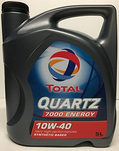 Total 460894-02F Quartz Oil 5L D.7000 10W40, Dorado