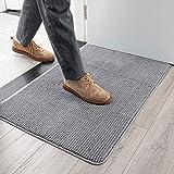 GKLUCKIN Ultra Absorbent Indoor Doormats, Durable Light Grey 20'x32' Entryway Rug Non-Slip Rubber Bottom 0.4' Low Profile Mats for Front Door Bathroom Kitchen Laundry Room Entry Decor