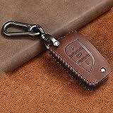 WQSNUB Caso de la Cubierta Completa del Tenedor de la Llave del Coche, para los Accesorios del Llavero de Toyota Hilux Revo Innova Rav4 Fortuner