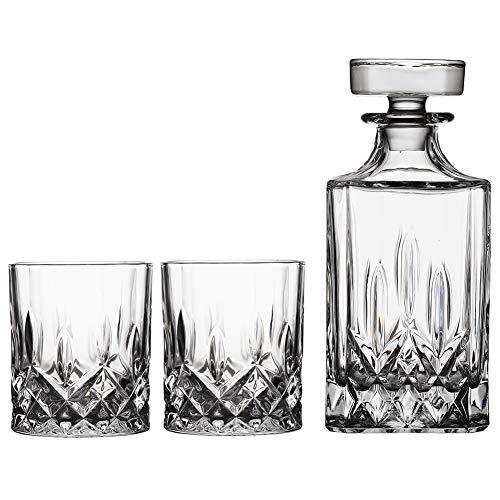 Liter Karaffe Glaskaraffe Whisky Cognac,Flasche Whiskey Likör Wein Flasche Dekanter Whiskyflasche Kristallglas Highland,Clear