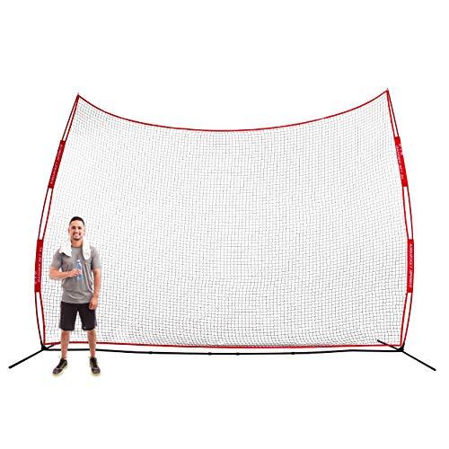 Rukket XL 16x10ft Barricade Backstop Net, Indoor and Outdoor Lacrosse, Basketball, Soccer, Field Hockey, Baseball, Softball Barrier Netting for Backyard, Park, and Residential Use