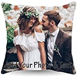 Custom Pillowcase with Picture 16x16 |Personalized Pillowcase with Photo and Text |Customized Throw Pillowcases - Home Decor, Decorative Cushion Cover for Couch or Sofa - Photo Gifts