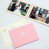 山田屋台紙店 写真台紙 ウエディング 結婚報告 ポケット台紙 『Happy Wedding/クラウン』 2Lサイズ 2面ヨコ (ピンク)