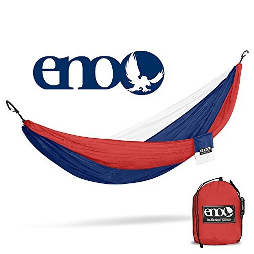 ENO - Eagles Nest Outfitters DoubleNest Lightweight Camping Hammock, 1 to 2 Person, Patriot