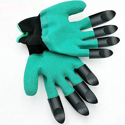 N / E 1 par de guantes de jardinería para excavación de jardín, con 8 garras de plástico ABS, guantes de protección de trabajo de jardín, guantes de jardín