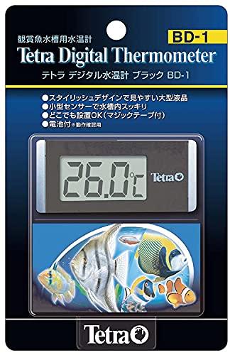 テトラ デジタル水温計 ブラック BD-1 水温計 アクアリウム 熱帯魚 メダカ 金魚