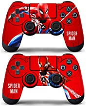 Decal Moments Sony PS4 Controllers Skin Dualshock Remote Vinly Decals Stickers Covers Skin Spiderman (Pack of 2)