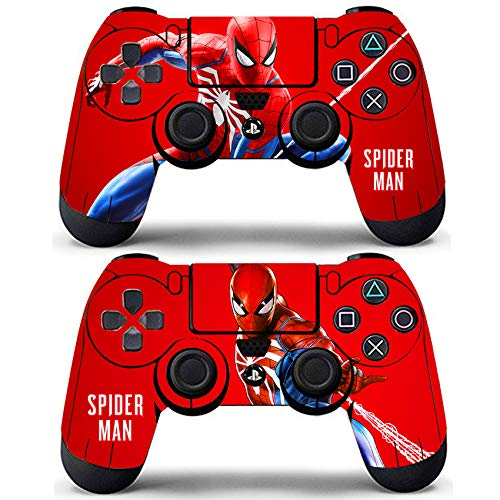 Decal Moments Sony PS4 Controllers Skin Remote Vinly Decals Stickers Covers Skin Spiderman (Pack of 2)
