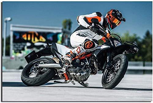 MKAN KTM 690 Smc R Supermoto Carteles Artísticos De Pared Lienzo Estampado De Tela para Decoración del Hogar-50X70Cm