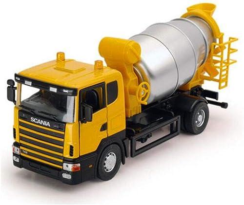 FH Betonmischer-Spielzeug-Legierungs-Simulations-Technik-LKW-Zement-Tanker-Modell der Kinder (Farbe   Gelb)