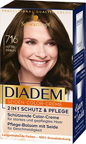 Diadem Seiden-Color-Creme 716 Mittelbraun Stufe 3, 3er Pack(3 x 170 ml)