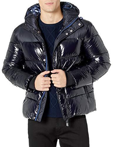 Armani Exchange Herren Shiny Coat Bomberjacke, Blau (Navy 1510), X-Large (Herstellergröße: XL)