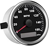 SAMDO Universal GPS Speedometer Boat Gauge with Odometer 85mm 160MPH, ATV Motorcycle Marine GPS Speedometer