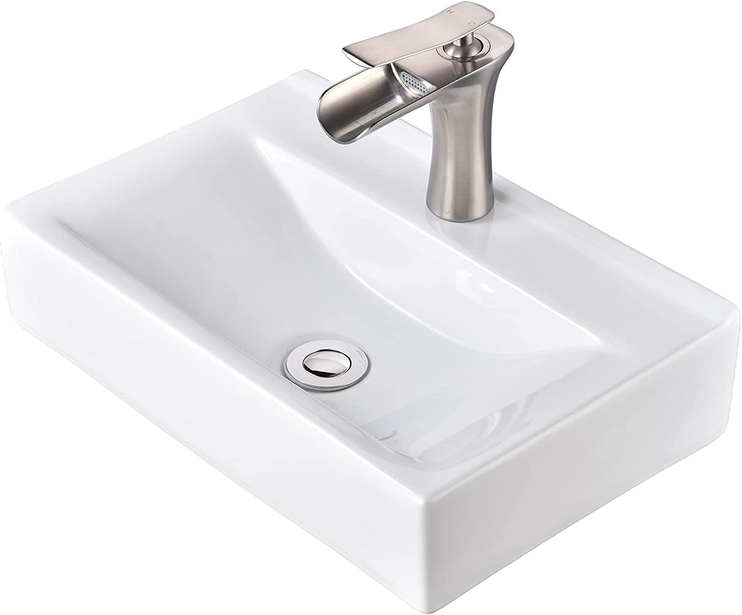 Aquaterior Wall Cheap mail order sales Mount High quality new Ceramic Sink Handle Single Waterfal Faucet