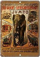 The Giant African Elephant Circus 金属板ブリキ看板警告サイン注意サイン表示パネル情報サイン金属安全サイン