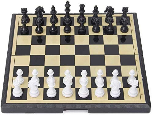 H.aetn Classic Chess Set Amerous 15' x 15' Travel Magnetic International Chess Set with Folding Chess Board Travel International Chess Board Games Set