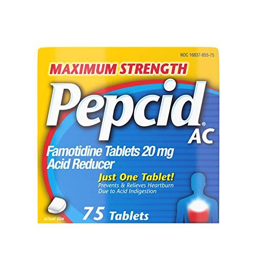 Pepcid AC Maximum Strength for Heartburn Prevention & Relief, 75 ct