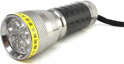 LEDブラックライト 14灯 自社製造 日本製 UVライト 日亜化学製 UV-LED 波長375nm 紫外線ライト (シルバー)