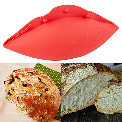 Silicone Bread Bowl, Loaf Pan, Microwave Vegetable Steamer, No Knead Bread Bowl, BPA Free, Baking Bowl Dough For Sourdough Lame Bread by Kamehame