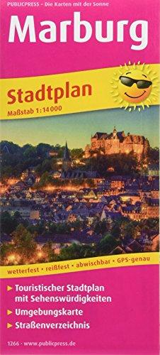 Marburg: Touristischer Stadtplan mit Sehenswürdigkeiten und Straßenverzeichnis. 1:14000 (Stadtplan: SP)