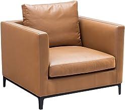UVANART Sicilia Leather Armchair - Brown - 210 x 97 x 89 cm - S313G
