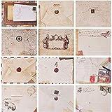 Envelope Vintage, 60 Pcs Mini Sobres Kraft, Sobres Vintage, Sobres Retro, Sobres Mini Kraft, Tarjeta Vintage Sobre Mini para Navidad/Acción de gracias/Boda/Fiesta de cumpleaños/Nota/Saludo