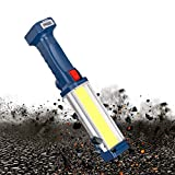 WARSUN Rechargeable Work Light Portable LED Mechanic Trouble Light, 1200 Lumen Magnetic Inspection Cordless Floodlight for Car Repair, Camping, Hiking, 30w COB