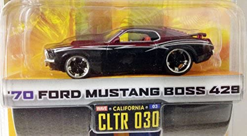 DUB CITY BIG TIME MUSCLE   '70 FORD MUSTANG BOSS 429   schwarz & Burgundy w Silber stripes   CLTR 030   1 64 Scale Die-Cast Collectible   JADA Toys 2005 by Dub City Bigtime Muscle