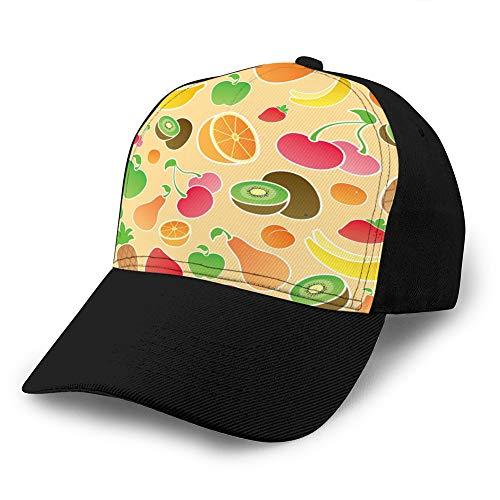 Holefg3b Denim Baseball Cap Männer Frauen Golf Hüte Verstellbare Kappe Frucht nahtlos Sport Snapback