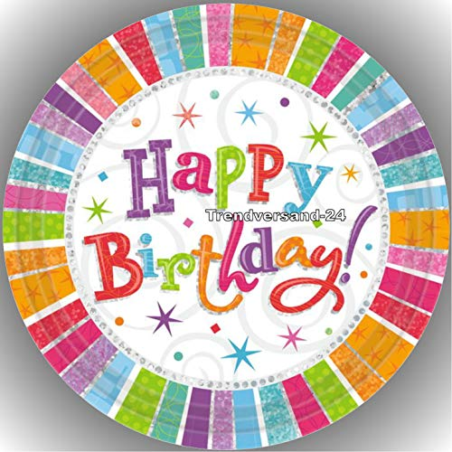 Fondant Tortenaufleger Tortenbild Geburtstag Happy Birthday T16