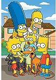 KELDOG Simpsons Puzzles Rompecabezas de Madera 1000 Piezas, Rompecabezas intelectuales Juguetes, Rompecabezas Casuales para Adultos Imagen de Dibujos Animados