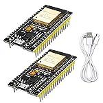 WayinTop 2 Stücke NodeMCU 2.4 GHz Dual Cores Modul für ESP32 ESP-32S ESP-WROOM-32 38 Pin Microcontroller WLAN WiFi + Bluetooth Development Board + 1M Micro USB Kabel