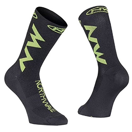 Northwave Extreme Air Fahrrad Socken schwarz/gelb 2020: Größe: L (44-47)