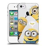 Head Case Designs sous Licence Officielle Despicable Me Banana Minions Amusant Coque en Gel Doux Compatible avec Apple iPhone 4 / iPhone 4S