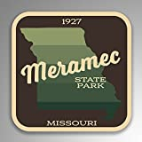 JMM Industries Meramec State Park Missouri calcomanía de Vinilo Retro de Aspecto Vintage, Paquete de 2, 4 Pulgadas por 4 Pulgadas, Laminado Protector UV SPS049