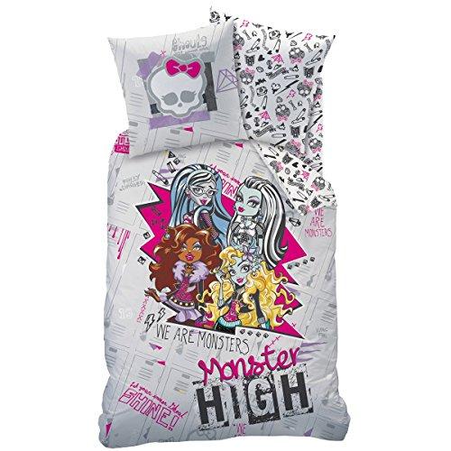 CTI Monster High Juego de Cama con Funda nórdica de 140 x 200 cm, diseño Shining