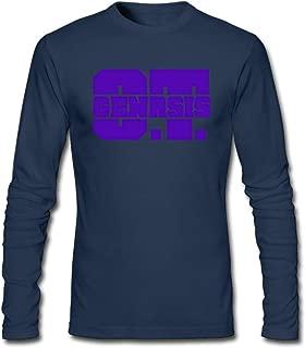 Hefeihe DIY O.T. Genasis Logo Men's Long-Sleeve Fashion Casual Cotton T-Shirt