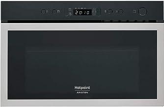 Hotpoint MN 613 IX HA Integrado - Microondas (Integrado, Microondas combinado, 22 L, 750 W, Botones, Acero inoxidable)
