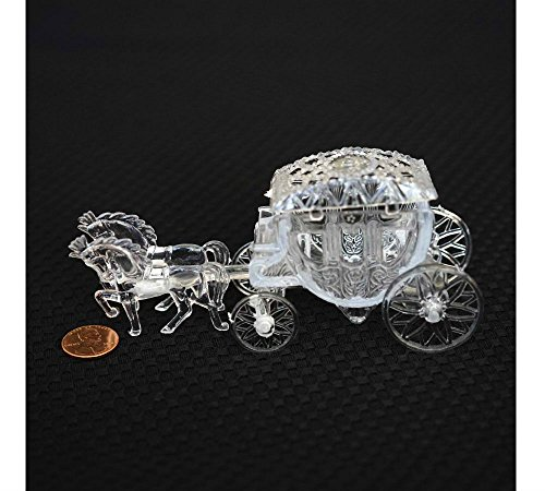 Unbranded New Royal Vintage Cinderella Horse and Carriage Coach Cake Topper Clear