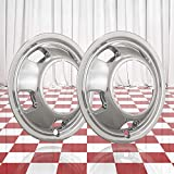 Ram 3500 Wheel Skins - Brighter Design Set of 2 Front Chrome 5 Hand Hole 17