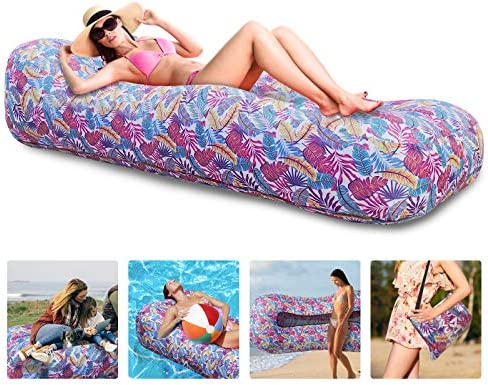 Myuilor Lounger Chair Air Sofa Couch Inflatable Hammock Ergonomic Beach Bed Waterproof Anti product image