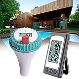 Reeseiy Termometro per Piscina Termometro per Acqua: Termometro Digitale per Chic Stagno E Piscina con Termometro per Ricevitori Radio LCD Prodotto per Uso Quotidiano da Giardino in Piscina